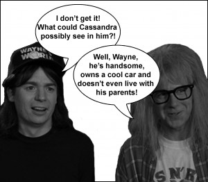 wayne and garth talk about cassandra