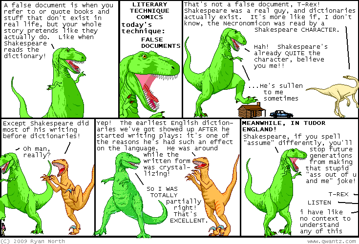 dinosaurs discuss false documents