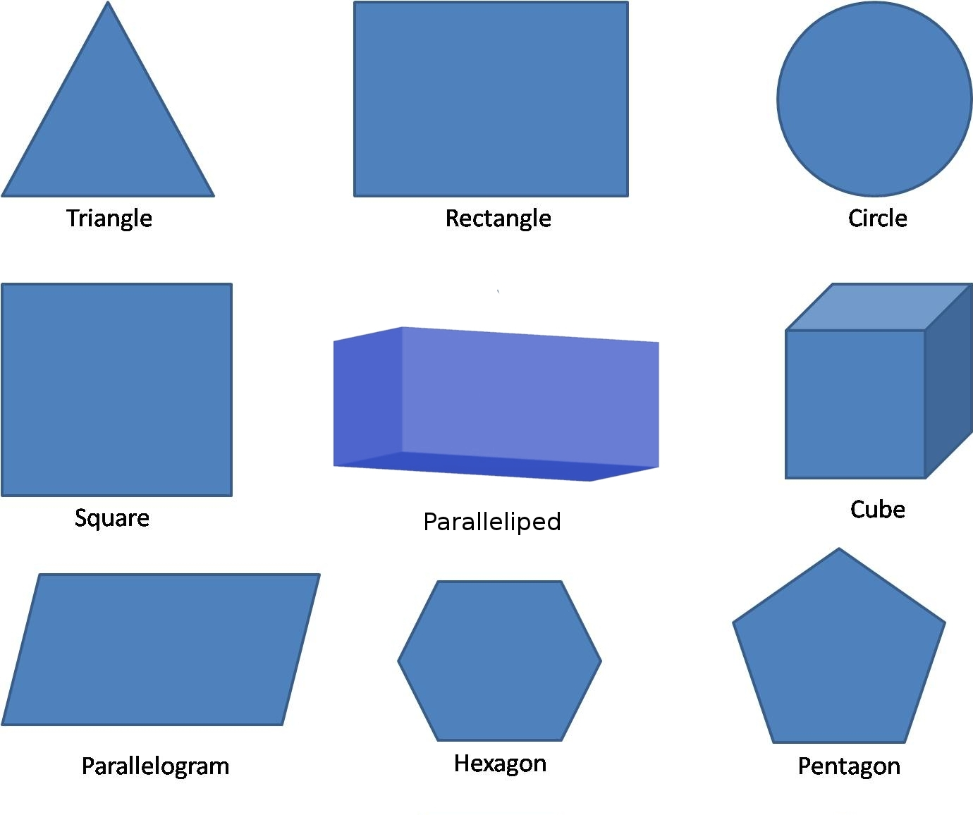 Name The Shapes Geometric Without Their Names